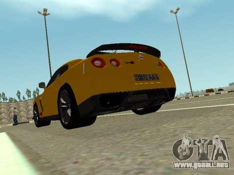 Nissan GT-R AMS Alpha 12 para GTA San Andreas left