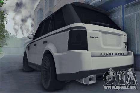 Land Rover Range Rover Sport para GTA San Andreas left