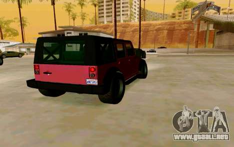 GTA V Mesa para GTA San Andreas vista posterior izquierda