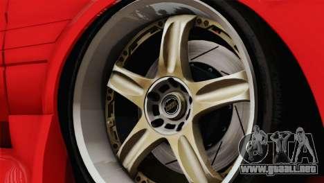 Toyota AE86 para GTA San Andreas vista hacia atrás