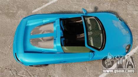 Porsche Carrera GT para GTA 4 visión correcta