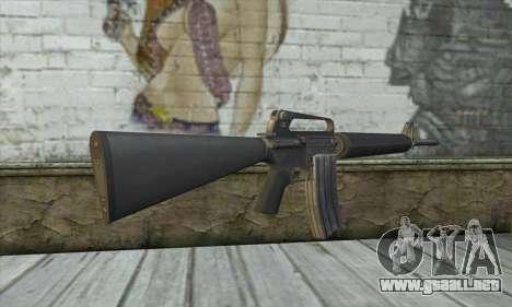M4A1 из Postal 3 para GTA San Andreas segunda pantalla