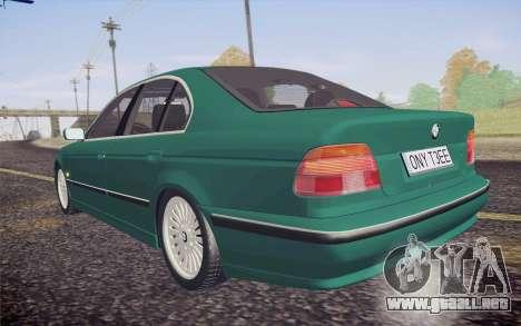 BMW M5 E39 528i Greenoxford para visión interna GTA San Andreas