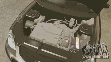 FBI Vaz-2170 para GTA 4 vista interior