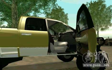 Dodge Ram 4x4 para GTA San Andreas vista posterior izquierda