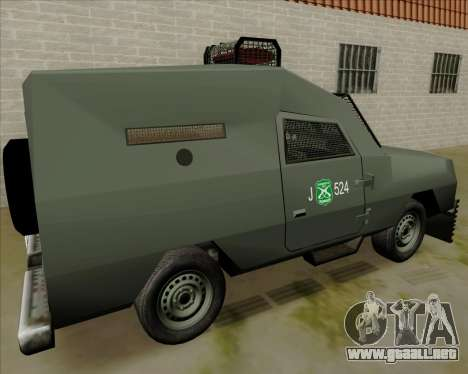 Zorrillo FF.EE para la visión correcta GTA San Andreas