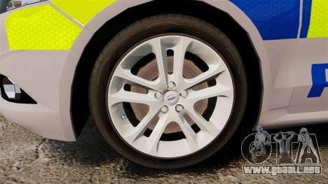 Ford Mondeo 2014 Metropolitan Police [ELS] para GTA 4 vista hacia atrás