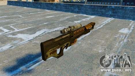 Rifle Gauss 14 electromagnética M20 para GTA 4 segundos de pantalla