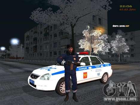 Pak DPS en un formato de invierno para GTA San Andreas sucesivamente de pantalla