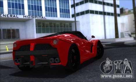Ferrari LaFerrari v1.0 para GTA San Andreas vista posterior izquierda