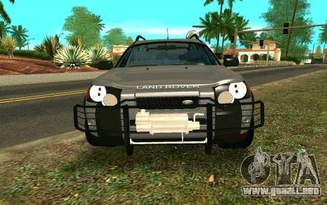 Land Rover Freelander para visión interna GTA San Andreas