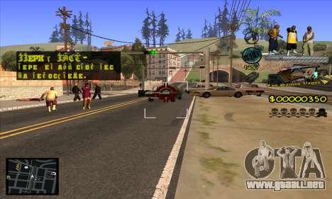 C-HUD Vagos Gang para GTA San Andreas quinta pantalla