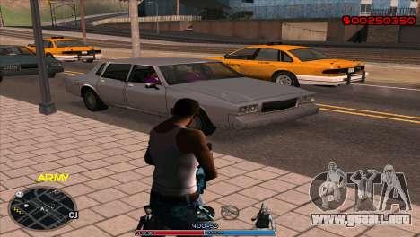 C-Hud Army by Kin para GTA San Andreas segunda pantalla