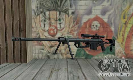 Black M200 Intervention para GTA San Andreas