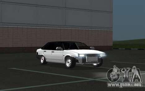 VAZ 21099 para vista inferior GTA San Andreas