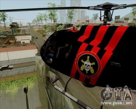 Sparrow BOPE para GTA San Andreas left