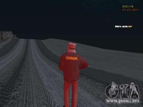 Pak DPS en un formato de invierno para GTA San Andreas quinta pantalla