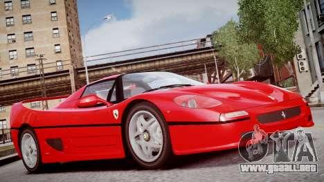 Ferrari F50 1995 para GTA 4 visión correcta