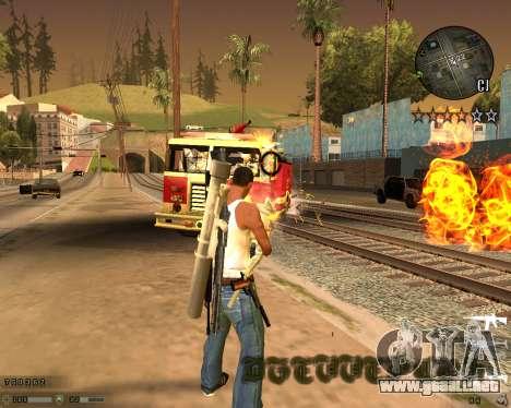 C-HUD CS:GO para GTA San Andreas tercera pantalla