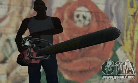 Búsqueda Kettensäge para GTA San Andreas tercera pantalla