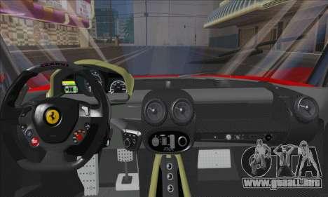 Ferrari LaFerrari v1.0 para visión interna GTA San Andreas