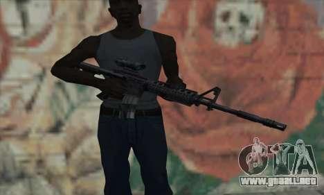 M4 RIS Acog Sight para GTA San Andreas tercera pantalla