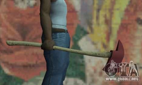 Hacha del L4D para GTA San Andreas tercera pantalla