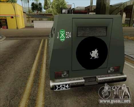 Zorrillo FF.EE para GTA San Andreas left