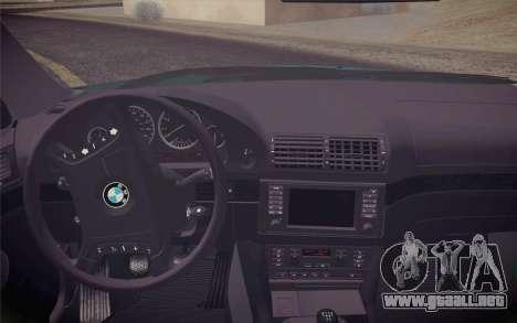 BMW M5 E39 528i Greenoxford para la visión correcta GTA San Andreas