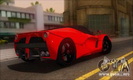 Ferrari LaFerrari v1.0 para GTA San Andreas vista hacia atrás