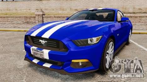Ford Mustang GT 2015 Stock para GTA 4