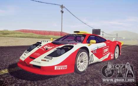 McLaren F1 GTR Longtail 22R para visión interna GTA San Andreas