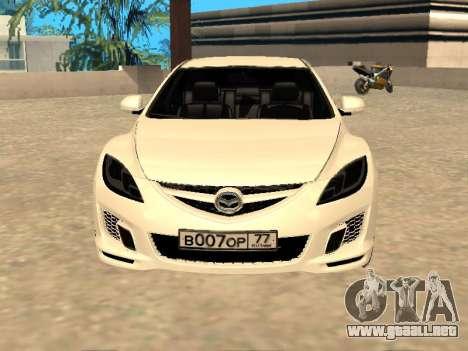 Mazda 6 2010 para GTA San Andreas vista posterior izquierda