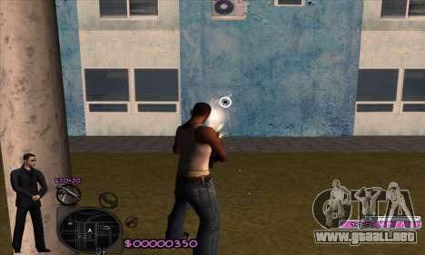C-HUD Woozie para GTA San Andreas tercera pantalla
