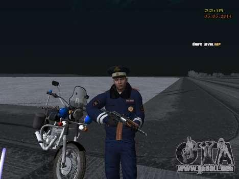 Pak DPS en un formato de invierno para GTA San Andreas octavo de pantalla