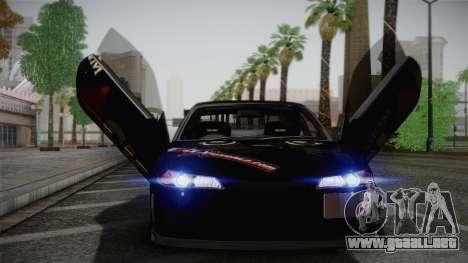 Nissan S15 Street Edition Djarum Black para visión interna GTA San Andreas