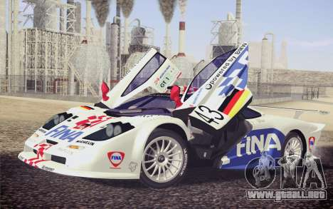 McLaren F1 GTR Longtail 22R para las ruedas de GTA San Andreas