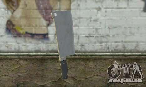 Cuchillo de cocina de Postal 3 para GTA San Andreas segunda pantalla