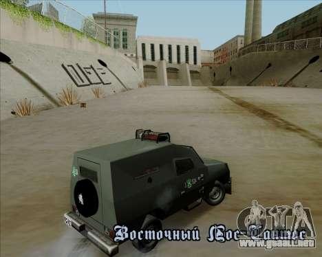 Zorrillo FF.EE para visión interna GTA San Andreas