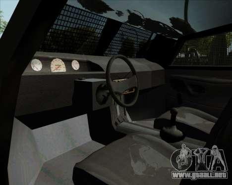 Zorrillo FF.EE para GTA San Andreas vista hacia atrás