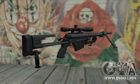 Black M200 Intervention para GTA San Andreas segunda pantalla