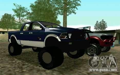 Dodge Ram 4x4 para GTA San Andreas left