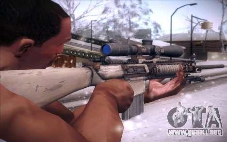 M110 para GTA San Andreas segunda pantalla
