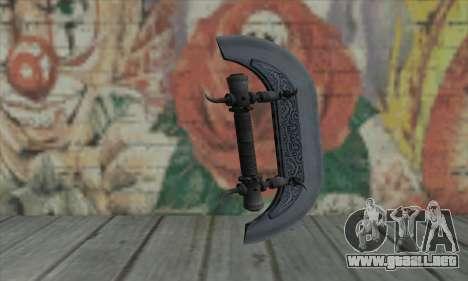 Knuckles - Hatchet para GTA San Andreas segunda pantalla