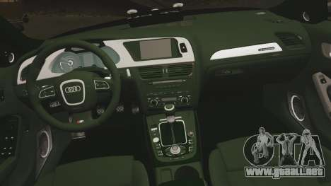 Audi S4 ANPR Interceptor [ELS] para GTA 4 vista lateral