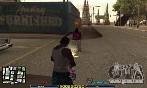C-HUD Swat para GTA San Andreas tercera pantalla