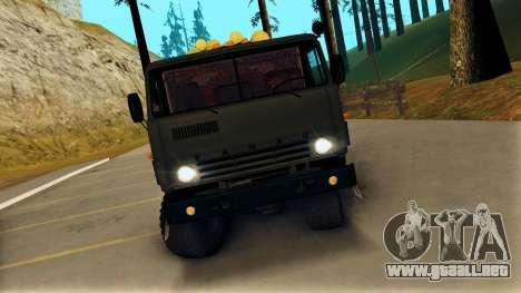 Kamaz 4310 Brevnova para la visión correcta GTA San Andreas