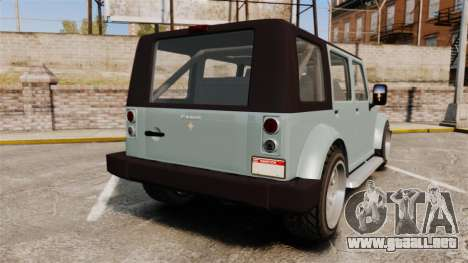 GTA V Canis Mesa para GTA 4 Vista posterior izquierda