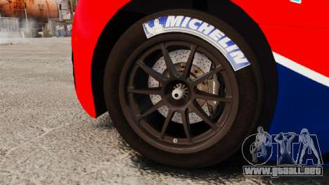 McLaren MP4-12C GT3 para GTA 4 vista hacia atrás