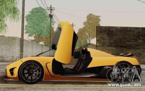 Koenigsegg Agera R para las ruedas de GTA San Andreas